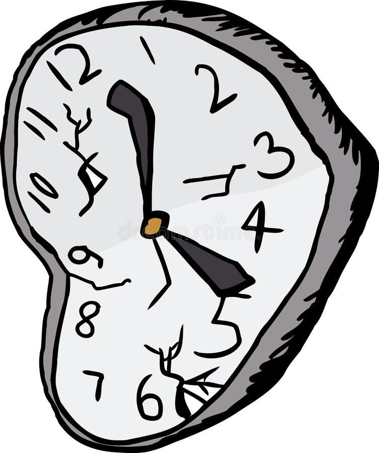 被隔绝的打破的时钟 库存例证