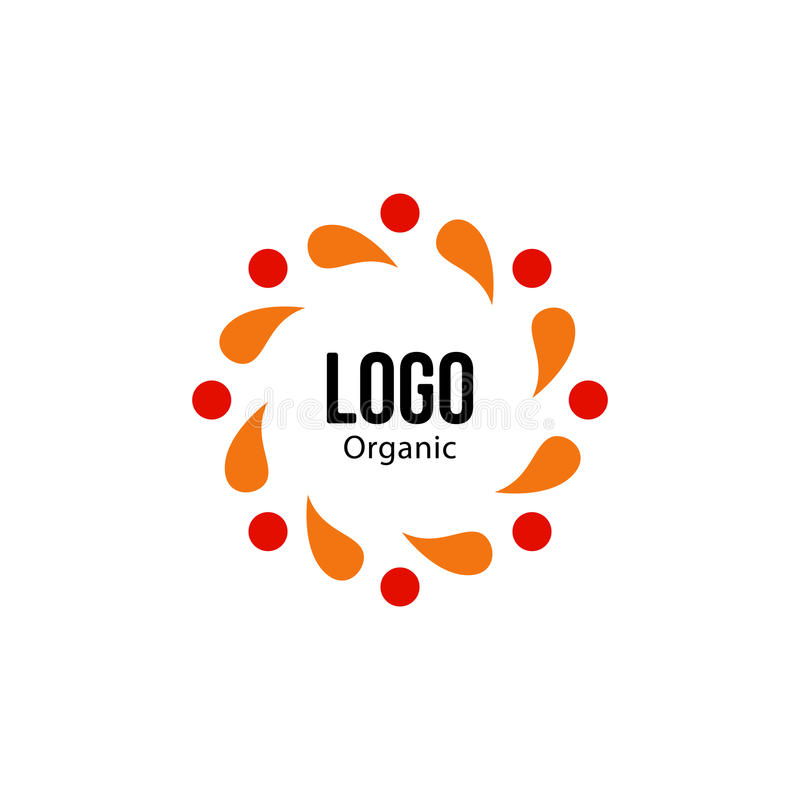 被隔绝的抽象五颜六色的圆形红色和橙色颜色商标 Spining螺旋略写法 秋叶圈子象 向量例证