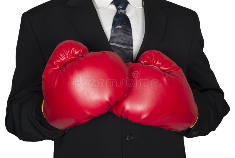 被隔绝的抽象概念企业拳击手套 免版税库存照片