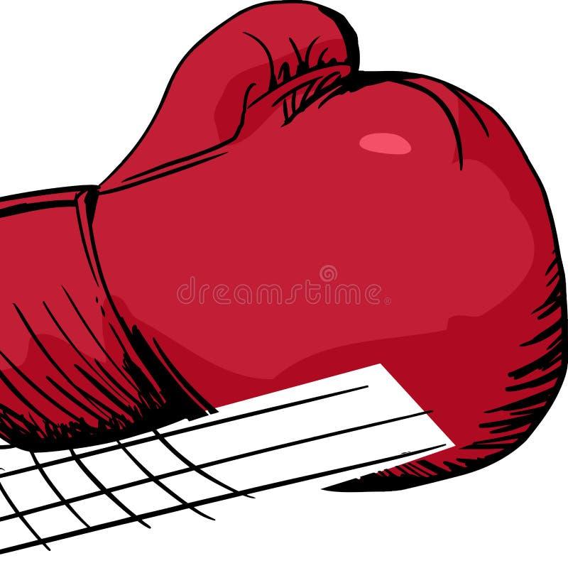 被隔绝的拳击手套猛刺 向量例证