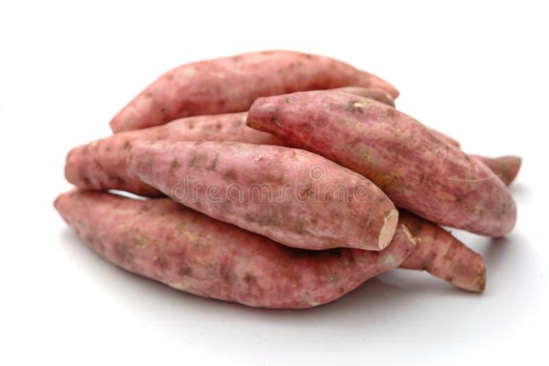 被隔绝的新鲜的薯类 免版税库存图片