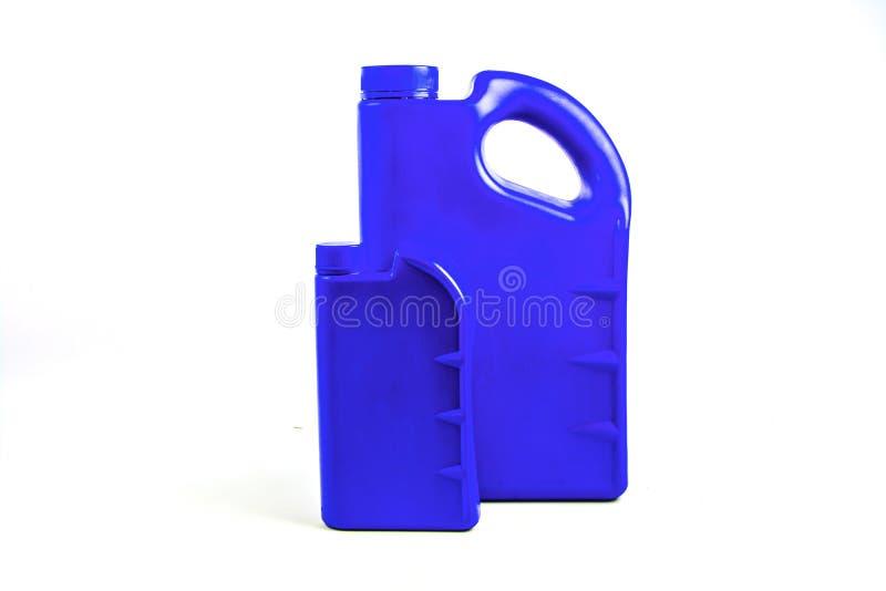 被隔绝的机油的,汽车油瓶塑胶容器 库存图片