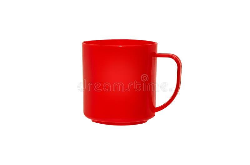 被隔绝的杯子红色塑料 免版税库存照片