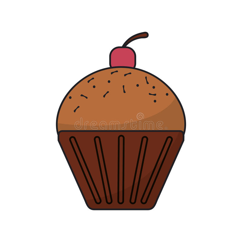 被隔绝的松饼食物设计 皇族释放例证