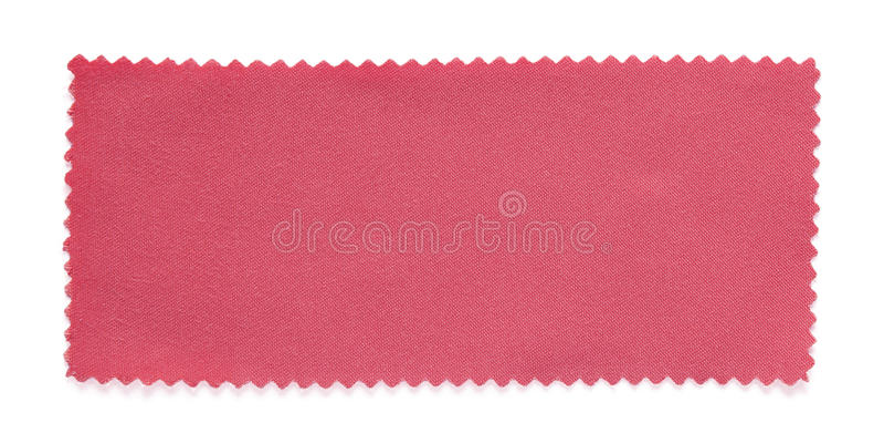 被隔绝的桃红色织品样片样品 库存照片