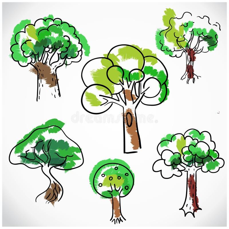被隔绝的概略树集合,手拉传染媒介的例证 皇族释放例证