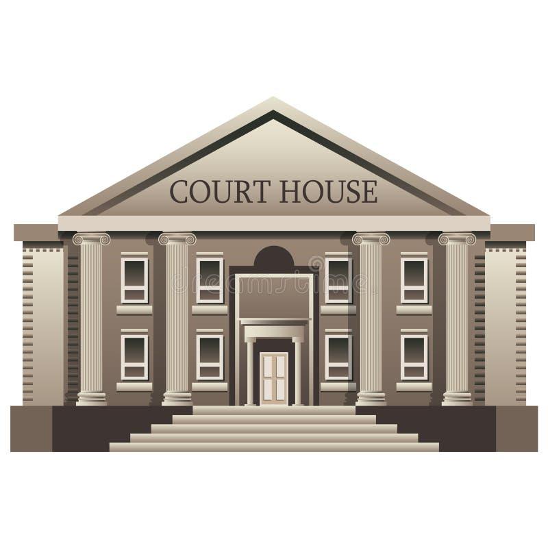 被隔绝的法院 库存例证