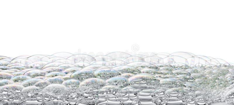被隔绝的泡影泡沫背景 库存照片