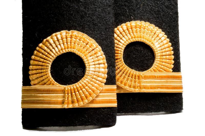 被隔绝的海军肩章等级标志 图库摄影
