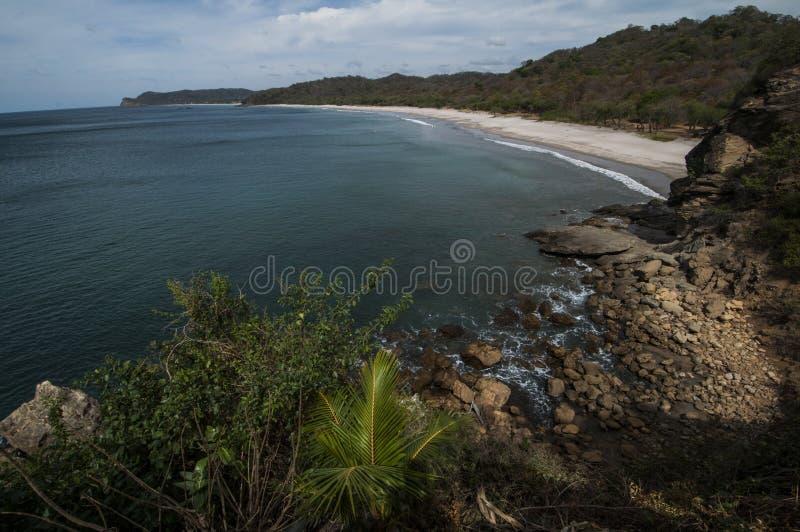 被隔离的海滩 库存图片