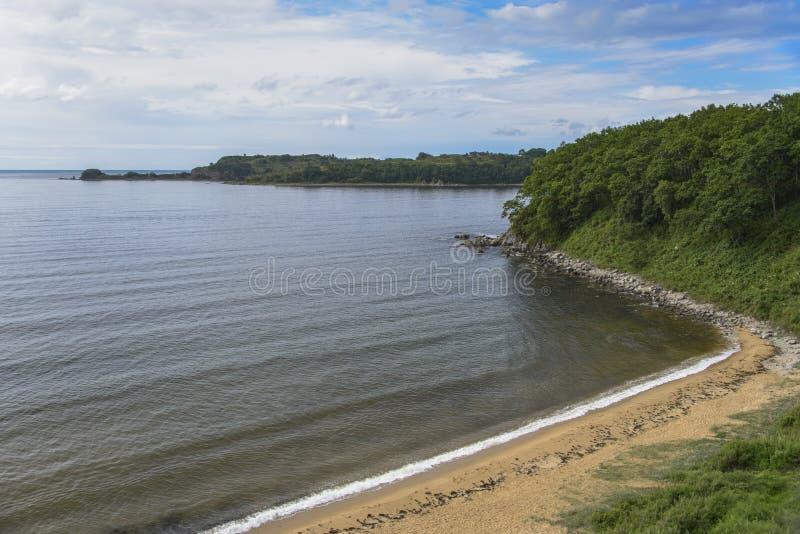 被隔离的海滩 库存照片