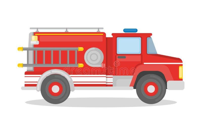 被隔绝的消防车 皇族释放例证
