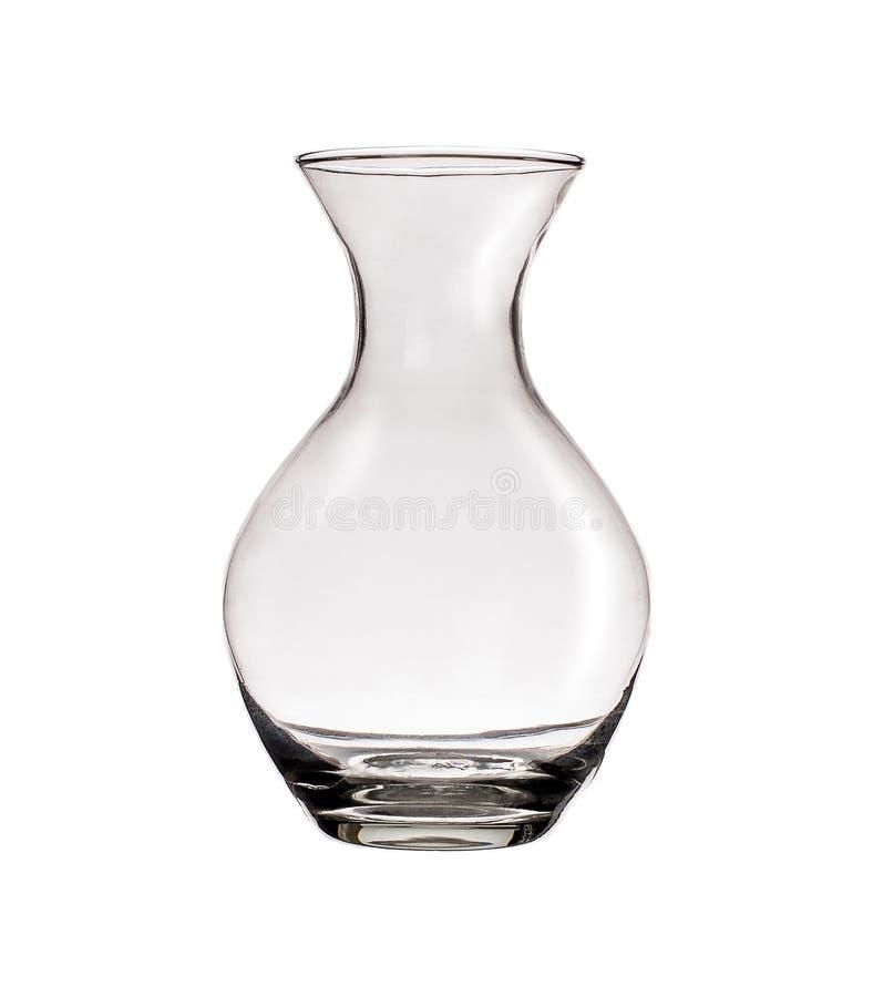 被隔绝的清楚的玻璃花瓶 免版税库存照片