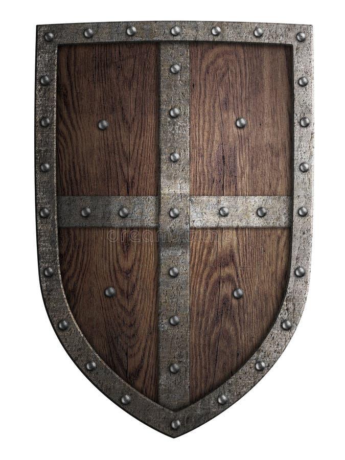 被隔绝的烈士中世纪木盾 免版税库存照片