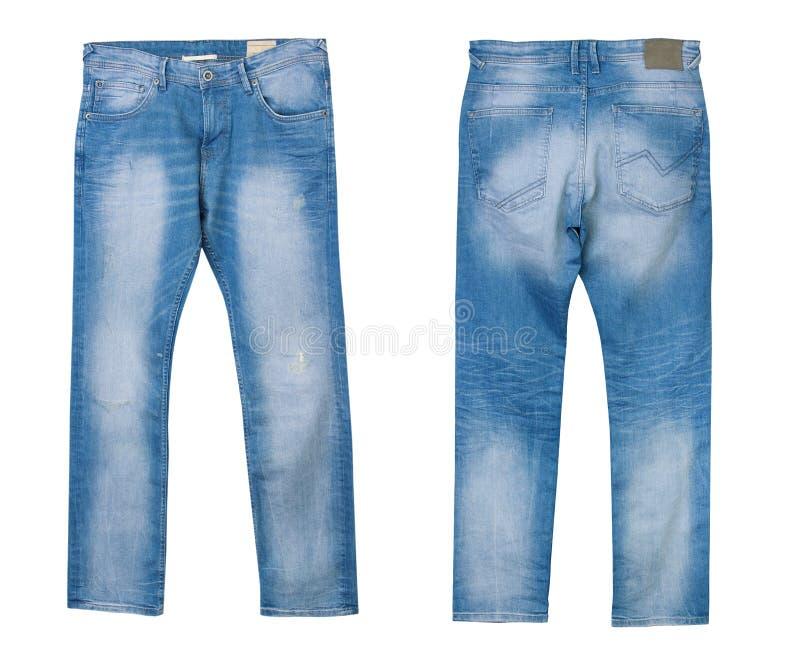 被隔绝的牛仔布男性牛仔裤 库存图片