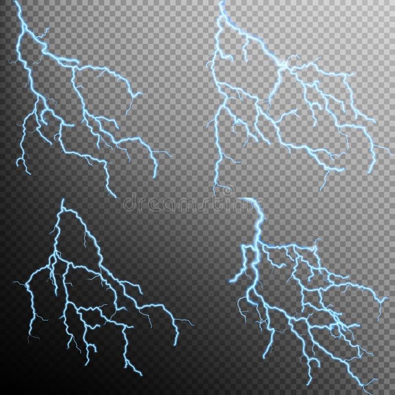 被隔绝的现实闪电的套 10 eps 向量例证