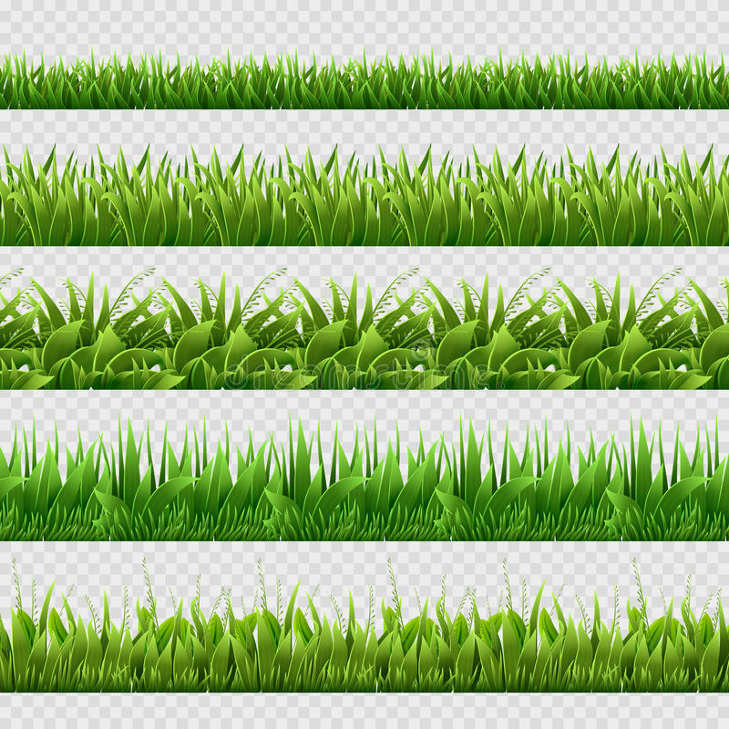 被隔绝的现实绿草无缝的传染媒介背景 向量例证