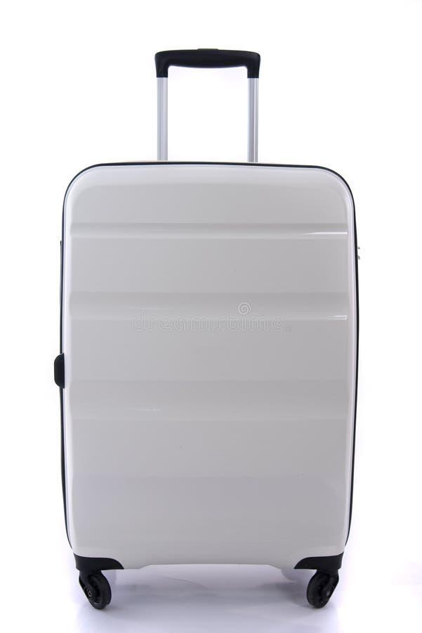 被隔绝的白色行李 图库摄影