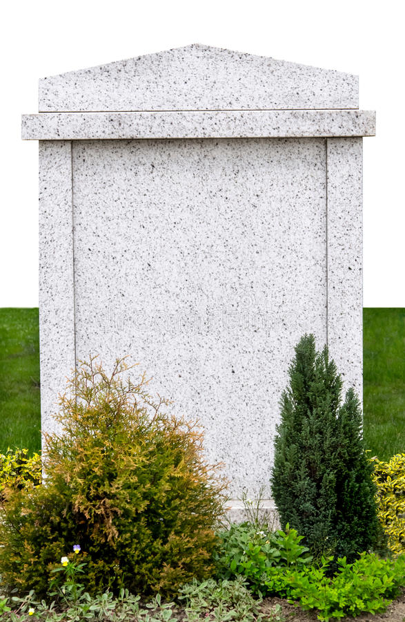 被隔绝的空白的墓碑 免版税库存照片