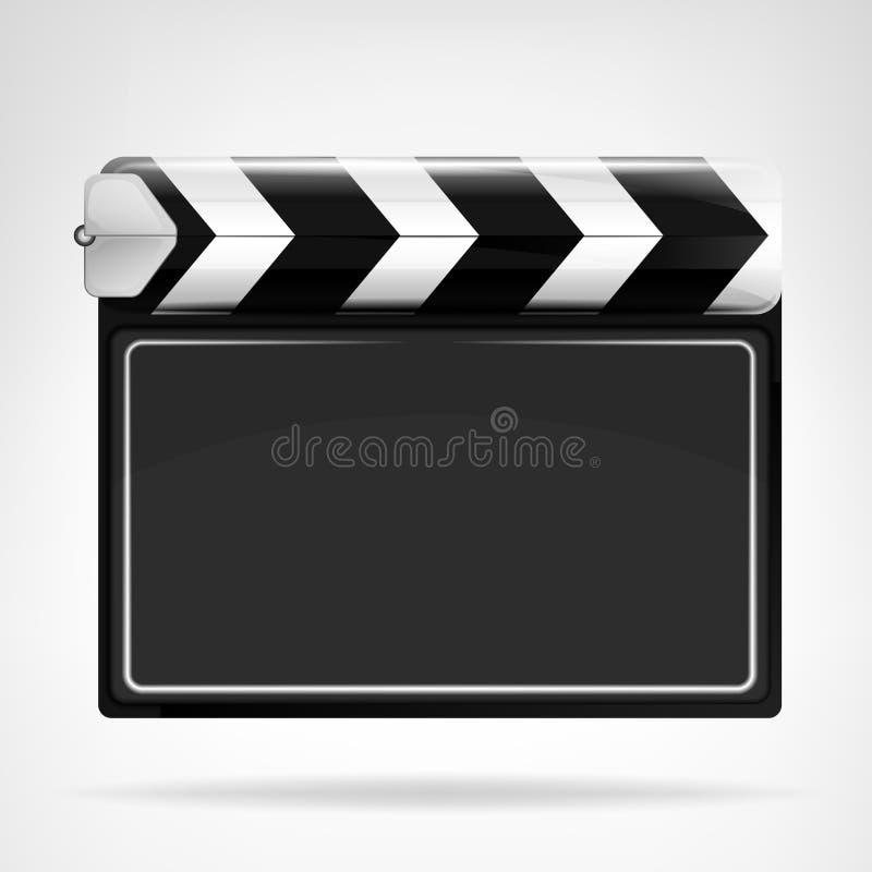 被隔绝的空白的电影挡水板对象 向量例证