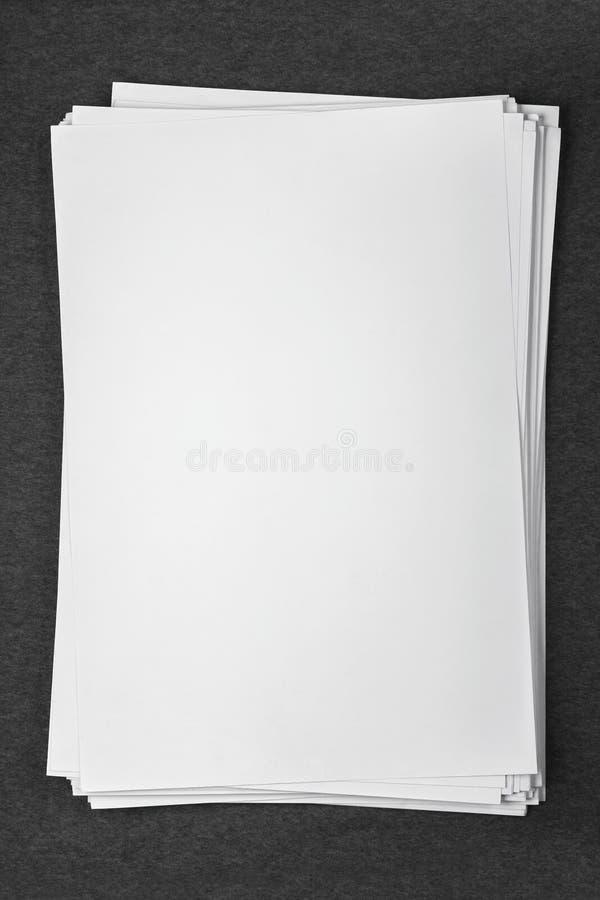 被隔绝的空白的白皮书 图库摄影