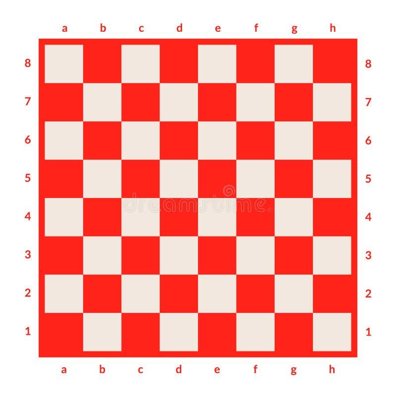 被隔绝的空的棋枰 棋或验查员比赛的委员会 战略比赛概念 背景棋盘计算机生成的图象透视图 皇族释放例证