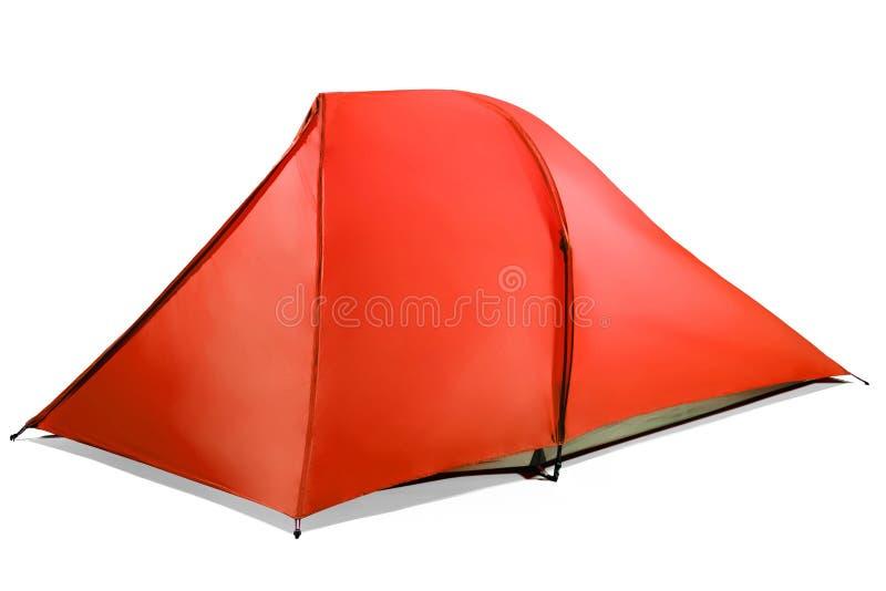 被隔绝的红色帐篷 免版税库存图片