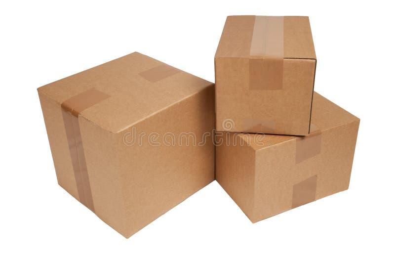 被隔绝的纸盒 库存照片