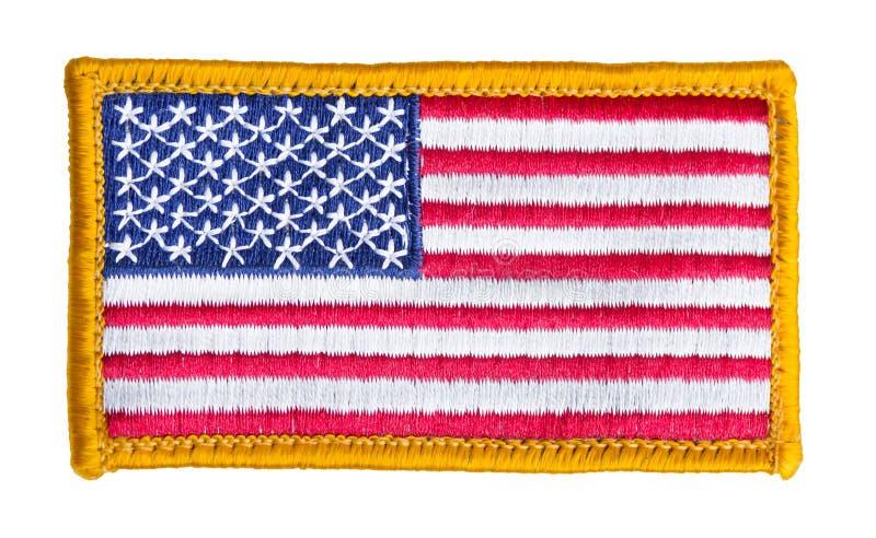被隔绝的美国国旗补丁 免版税库存图片