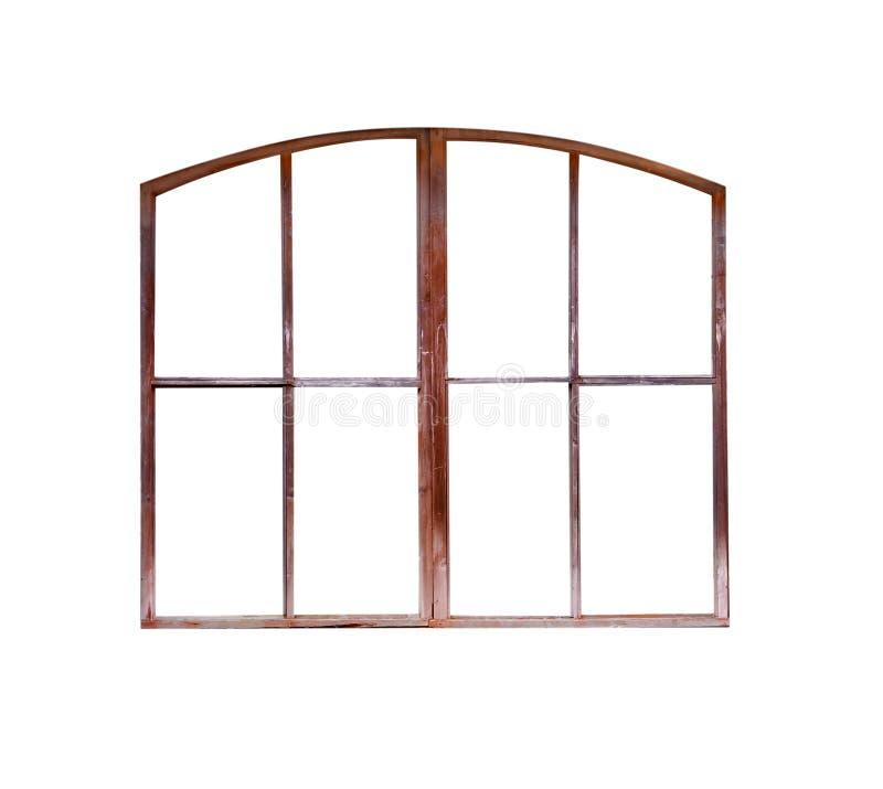 被隔绝的老窗架 免版税库存图片