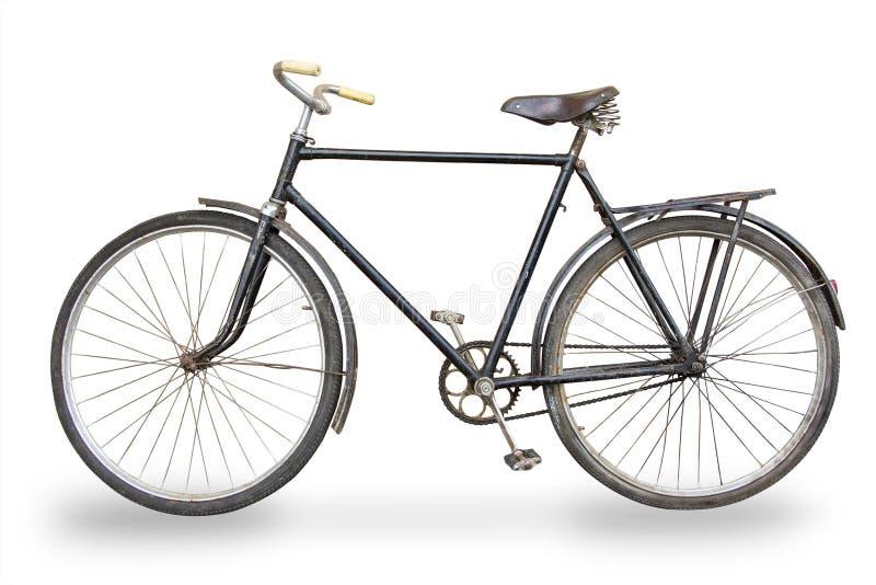 被隔绝的老自行车 免版税库存照片