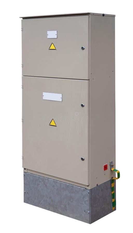 被隔绝的能量柜台的箱子 免版税库存照片