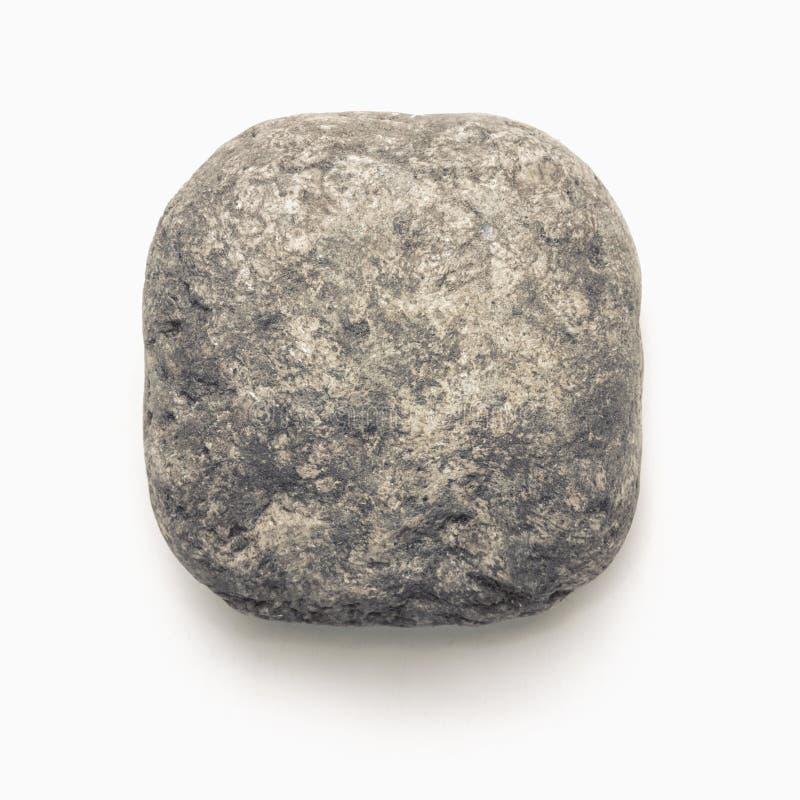 被隔绝的自然石圆斜切的方形的象模板 库存图片