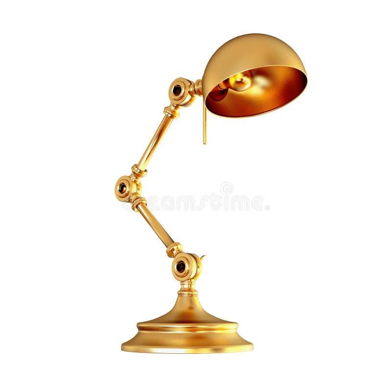 被隔绝的葡萄酒金黄灯在白色背景 皇族释放例证