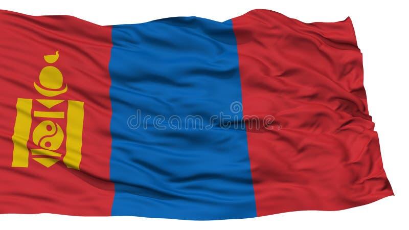 被隔绝的蒙古旗子 库存例证