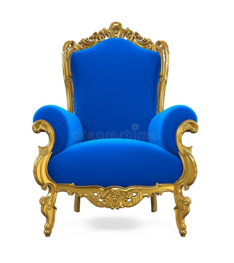 被隔绝的蓝色王位椅子 向量例证