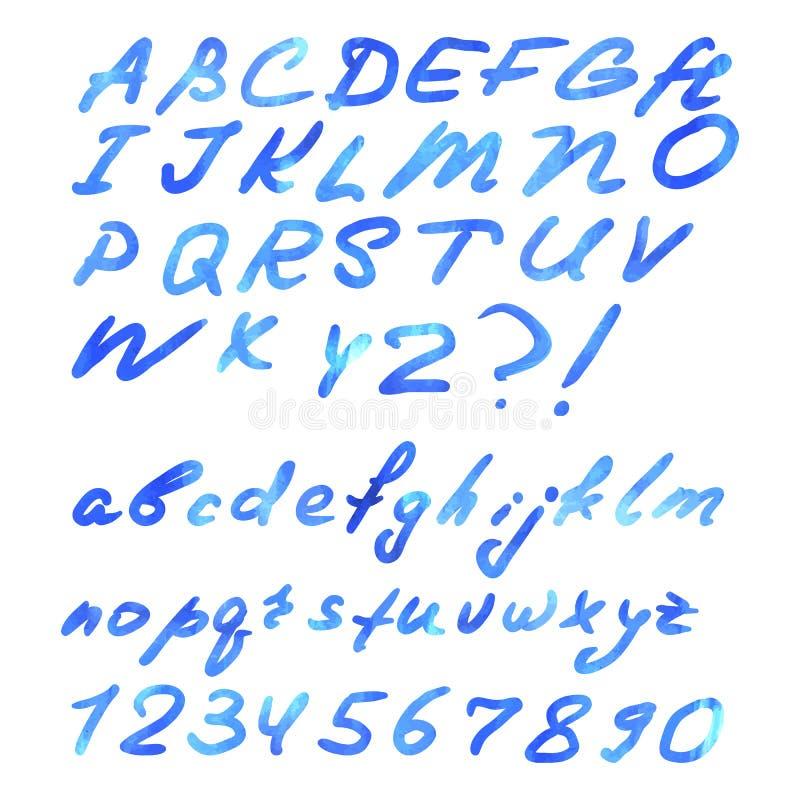 被隔绝的蓝色水彩信件 库存图片