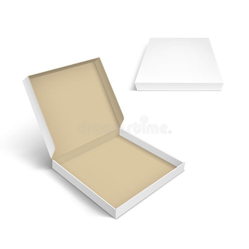 被隔绝的薄饼箱子包装的模板 皇族释放例证