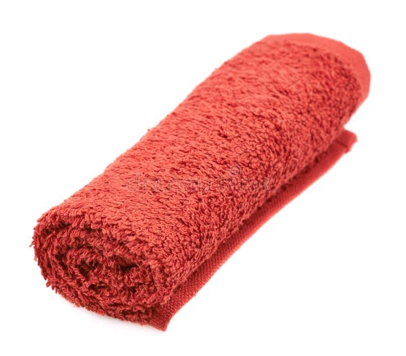 被隔绝的被折叠的特里毛巾 免版税库存图片
