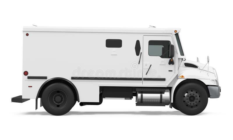 被隔绝的装甲的卡车 库存例证