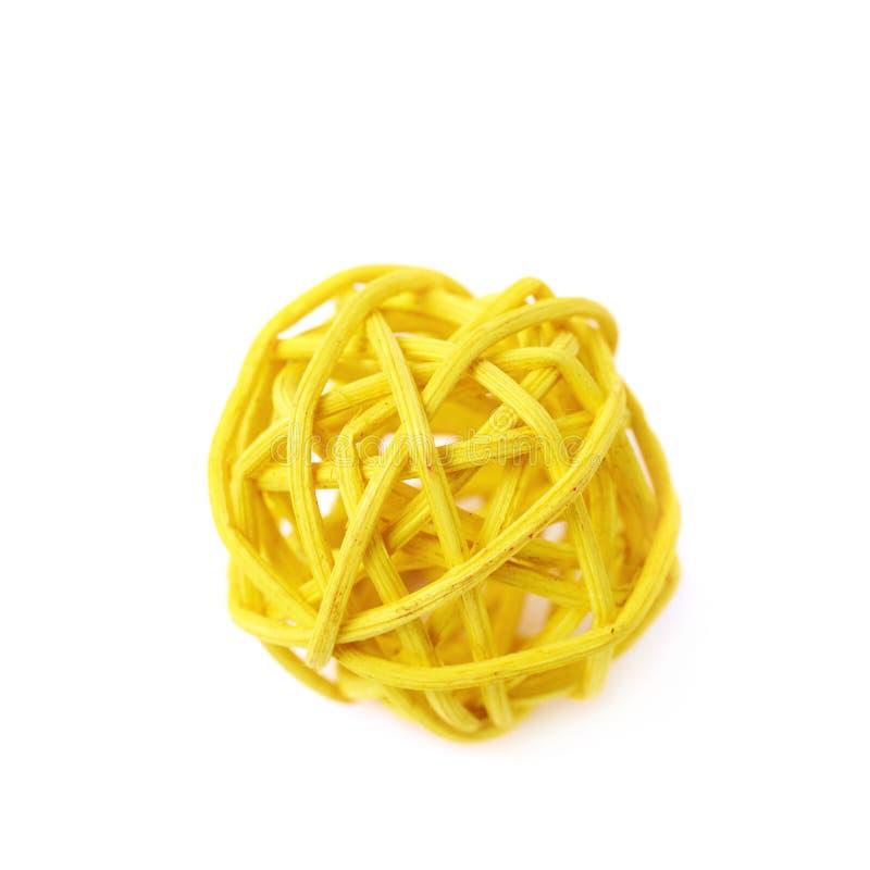 被隔绝的装饰秸杆球 免版税库存图片