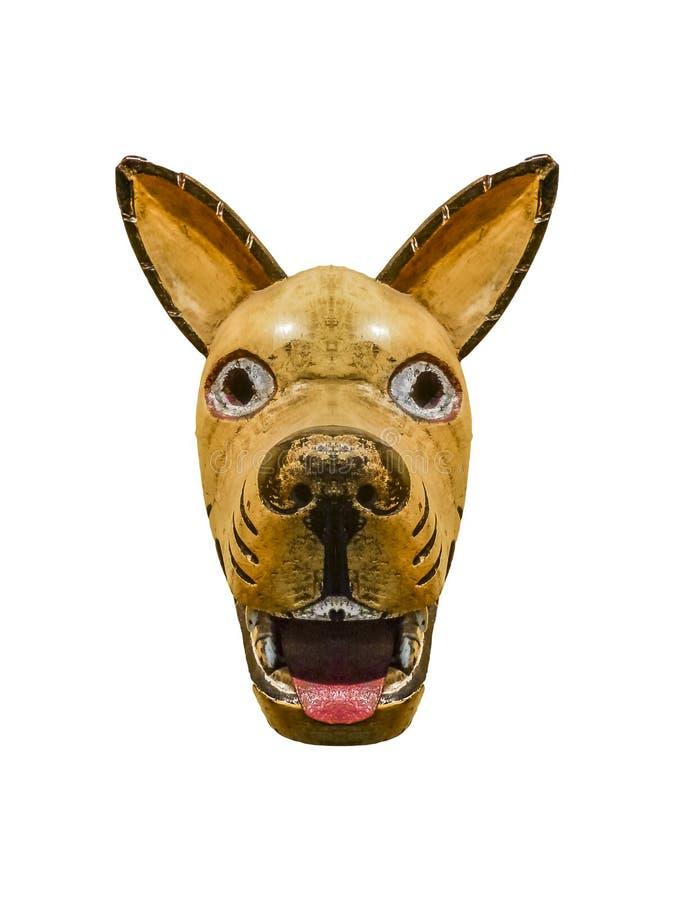 被隔绝的部族狗面具 向量例证
