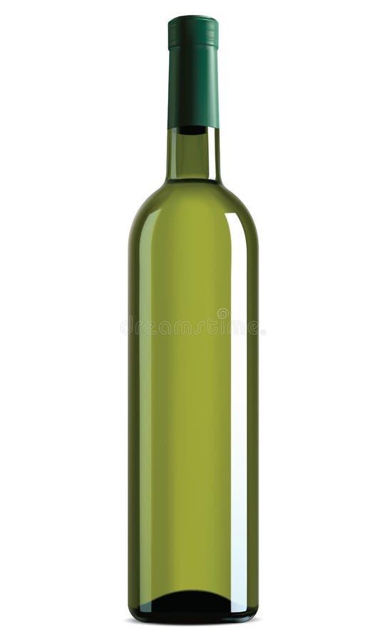 被隔绝的酒瓶。传染媒介例证 库存例证
