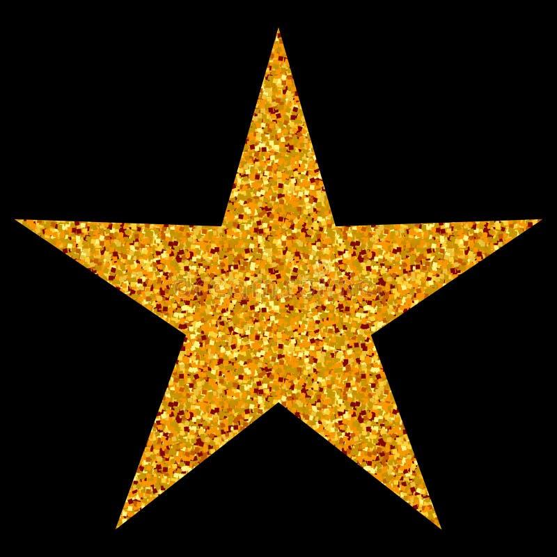 被隔绝的金子和黄色星象,排列的标记 库存例证
