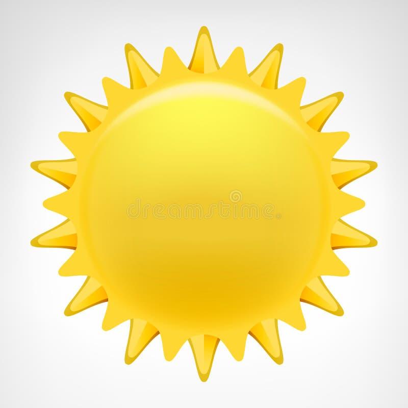 被隔绝的金黄太阳剪贴美术传染媒介 向量例证