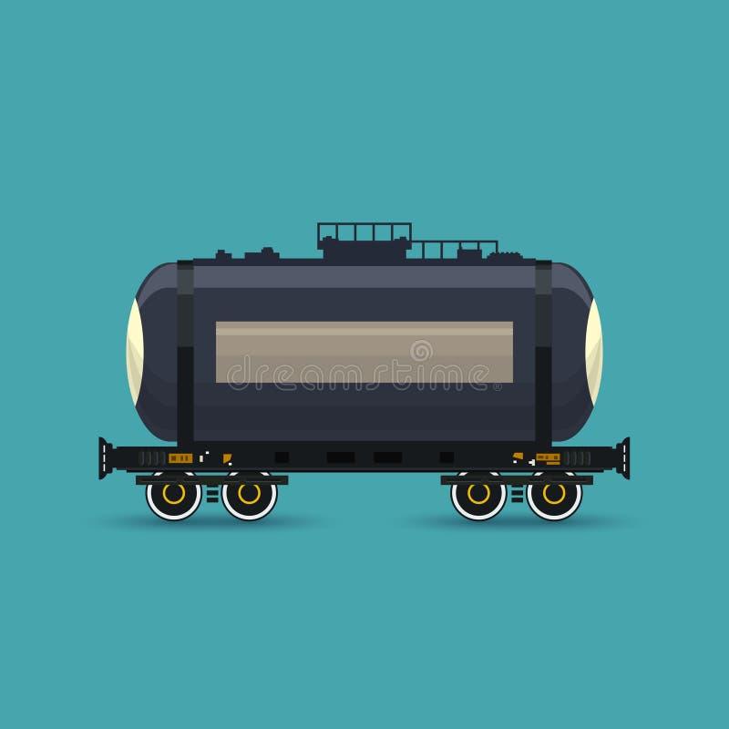 被隔绝的铁路坦克车 皇族释放例证