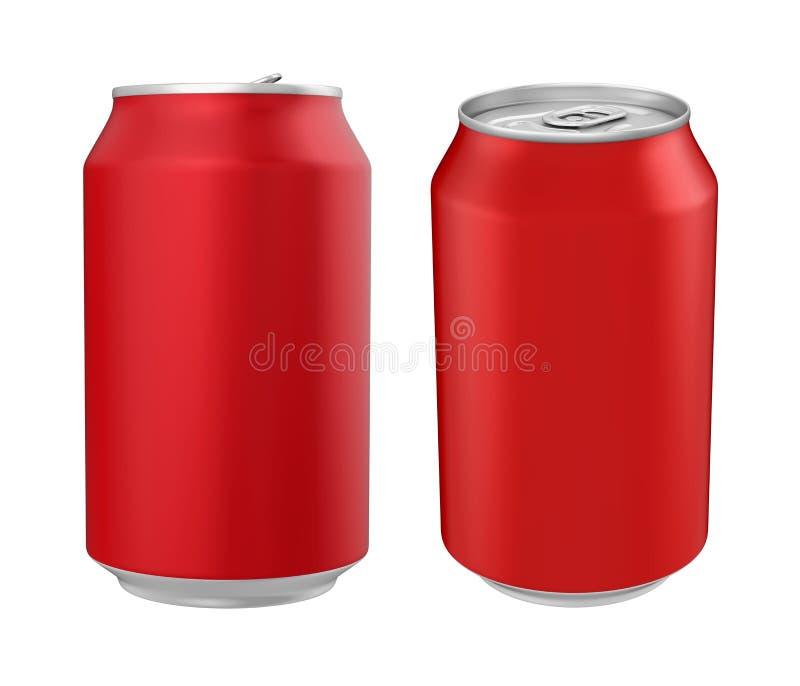 被隔绝的铝汽水罐 向量例证