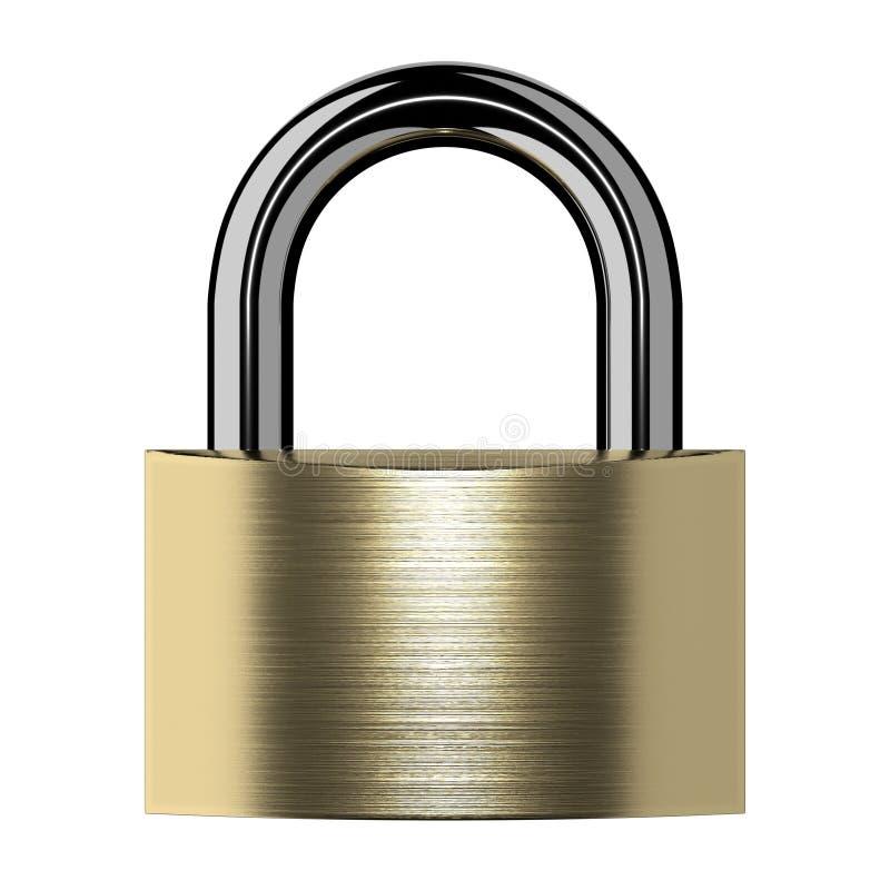 被隔绝的闭合的锁 库存例证