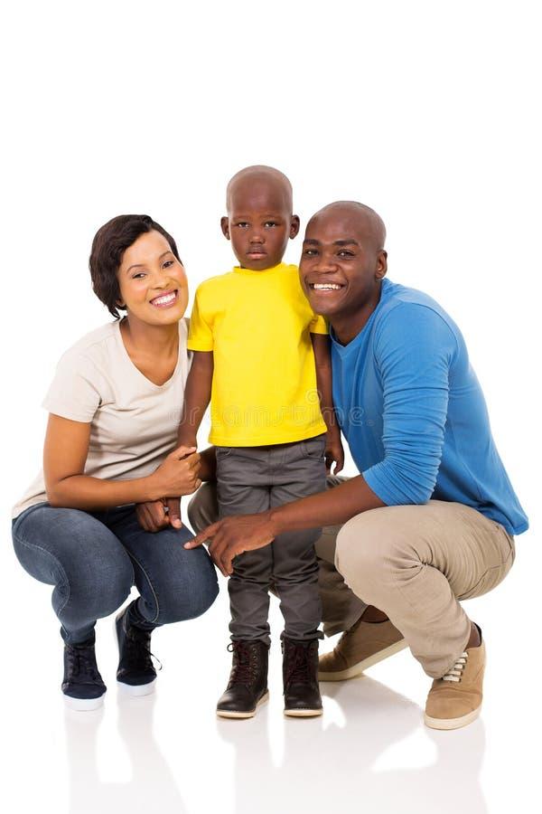 被隔绝的非洲家庭 免版税库存图片