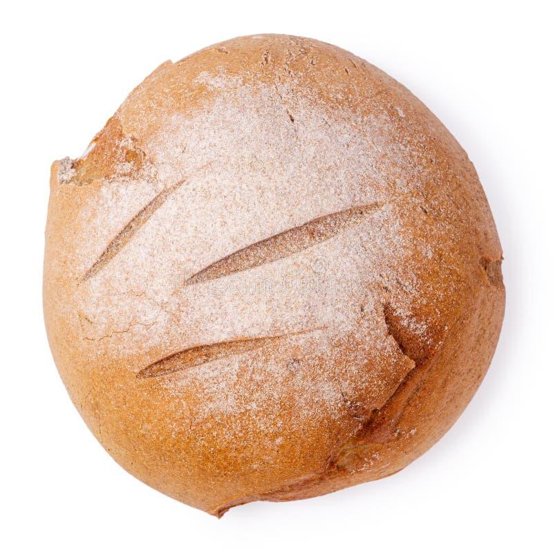 被隔绝的顶视图自创圆的面包 免版税图库摄影